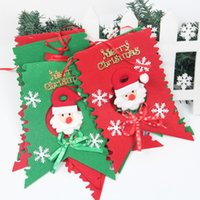 Wholesale Merry Christmas Decoration Flags Santa Clause Snowman Flags for Home KTV Bar Church Shopping Mall School Banquet Hall Corridor Xmas Decor