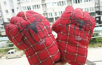 amazing perform - EMS pairs quot Spider Man Plush Gloves The Amazing Spider Man Performing Props Toys Set of HRPD086