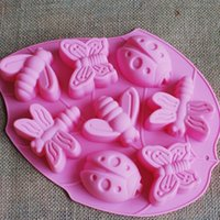 Wholesale Supply silicone cake mold even insects die pudding jelly mold handmade soap mold