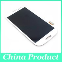 Wholesale For Samsung Galaxy S3 lcd GT i9300 i9300 inch LCD Display and Touch Digitizer Without Frame C