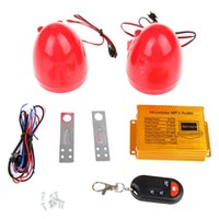 Wholesale Motorcycle MP3 Player FM Radio Audio Sound Alarm System V Red Remote Control Waterproof High quality