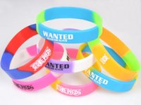 band wanted - 2015 hot sell Wanted ONE PIECE KEY anime cosplay Wristband Silicone Bracelet Multicolor sport wrist band