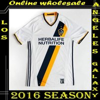 beckham uniform - Whosales Discount New LA Galaxy Soccer Jersey La Galaxy Jersey Custom BECKHAM GERRARD Soccer uniforms MLS Jersey Top