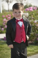 Wholesale 2016 Kid Boy Tuxedos Suits Clothing Custom Made Boys Wedding Events Suit Boy s Attire Groom Tuxedo Jacket Pants Vest Bow