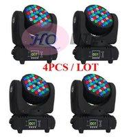 4pcs / lot RGBW chaud faisceau de lavage mini led tête mobile 36 x 3w