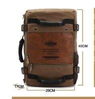 baseball back packs - Men s Casual Vintage Canvas Backpack Messenger Rucksack school Satchel Crossbody Outdoor Hiking Camping bag Back Pack