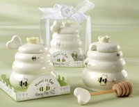 baby pot - New arrival wedding baby shower favor gifts Meant to Bee Ceramic Honey Pot