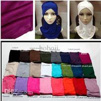 Wholesale fashion casual modal Muslim hijab scarf convenient Baotou Hui new primer repair face lift cap shopping