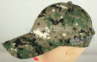 Wholesale Wholesals Military Tactical Grain Baseball Caps Camouflage Color Sun Hat Fit For Cosplay CAMPING Climbing Bicyle Outdoors Sports