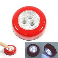 Wholesale 1 Touch Turn on Wall LED Light Kitchen Cabinet Closet Lighting Touching Lamps Colors