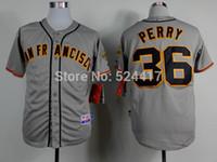 Wholesale 2015 New Cheap Baseball Jerseys San Francisco Gaylord Perry men s Embroidery Baseball Jerseys