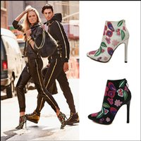 Wholesale New Autumn winter pointed high boots with fine with belt buckle ankle boot street short boots