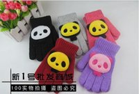 Wholesale 2016 Winter Kids Cute Panda Gloves Children Gloves years old