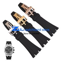 Wholesale Rubber Watchband Sports watch strap Black mm Men high quality Watch accessories silicone wristwatches band use for AP