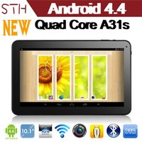 Wholesale NEW quot Android Quad Core tablet Allwinner A31s QuadCore tablet with Bluetooth Capacitive Touch