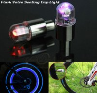 al por mayor colorful bicycle-Lámpara de casquillo rueda del coche de la luz del flash LED de luz LED bicicleta válvula del neumático del neumático de sellado fresco colorido de luz de la bicicleta para la motocicleta Car Styling