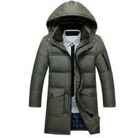 Wholesale Mens Fur Collar Coat White Duck Down Jacket Men Hooded Super Warm Winter Long Parka Jackets Slim Plus Size XL XL Manteau Homme