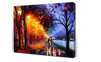 best acrylics canvas - The Best Pictures DIY Digital Oil Painting Acrylic Paint By Numbers Unique Gift Decoration x50cm Couple walking in rain D112