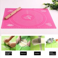 Wholesale Table Pad cm Silicone knead dough mat large size Knead Flour Pastry Baking tools non stick Silicone baking rolling
