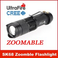 Wholesale Ultrafire W lm CREE Q5 LED ZOOMABLE Mini Flashlight Torch Lamp AA Outdoor sports