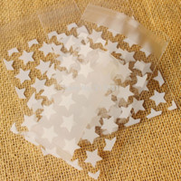 Wholesale NEW White stars Small Accessories Cellophane Favor Mini Bags Self Seal Party Packaging gift packing bags