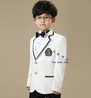 wedding black and white - Fashion Black and white boy small suit dress suit children costumes suit wedding flower girl suit