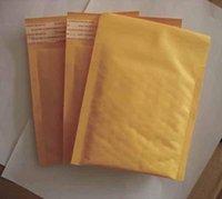 50pcs mucho oro Kraft burbuja Sobres Sobres acolchados bolsas de alta calidad bolsas de papel 122 * 178 + 40MM (5 '' * 7 '') Bolsos del regalo el envío libre