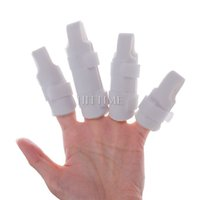 splint - New Finger Splint Two Sided Curved Foam Protector Brace Support With Strap New Hot Selling set
