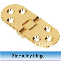 Wholesale 10pcs gold Oval table hinge folding accessories flap hinges mm total length