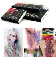 Wholesale Fashion Colors set Chalk Hair Temporary Chalk Hair Color Dye Pastel Chalk Bug Rub DHL sets