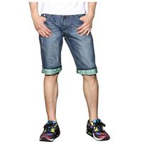 Men Acrylic Skinny,Slim Men Short Brand Ripped Distressed Cartoon Jeans Shorts Summer Casual Destroyed Denim Men Bermuda Beach Short Jean