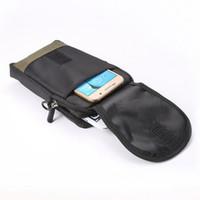 Compra Clips de bolsas-Universal de los deportes de montaña Celular móvil lona hombro caso cinturón bolsa bolsa de clip para el iPhone 6 Plus Note4 Note3 S6 teléfono celular
