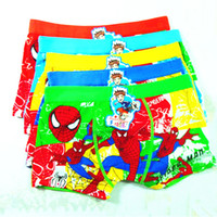 Wholesale NEW Children s cartoon printed underwear Cotton underwear boys Spider Man cartoon cotton boxers colours