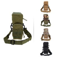 Wholesale New Outdoor Water Bottle Bags Water Resistant Tactical Traveling Bottle Pouch Kettle Pouch for Camping Hiking