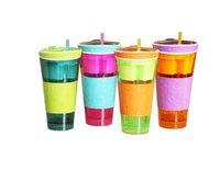 Wholesale Multifunction Snackeez Cup Snack Cup Newest Snackeez Snack Drinkware the all in one Drink and Eat Cup Hot Selling