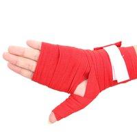 Wholesale 2PCS M Red Boxing Handwraps Bandage MMA Training Wrist Protect Punch