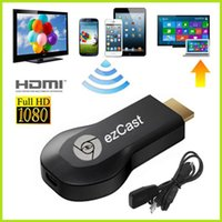 Wholesale 2014 Chromecast Google Android P Hdmi Ezcast Mirroring Feature Pushing Local Content To Tv Player box Wifi Dongle Receiver
