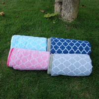 Wholesale Blanks Quatrefoil Bayby Blanket with Minky Lovie Toddler Blanket Gift for Baby Via FedEx DOMIL106223