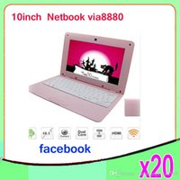 Wholesale Cheap inch Mini Laptop Notebook Computer webacm GB OR G Gia V8880 Android netbook laptops ZY BJ