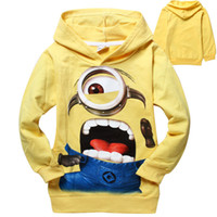 Wholesale Hot New Retail minion Children s Hoodies Sweatshirts Spring Autumn despicable me print kids long sleeve t shirts boys girls clothes