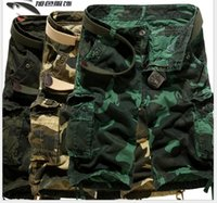 camo pants for men - New Outdoor Camouflage cargo short pants for men Fashion hot Military Training camo shorts cargo pants trousers for men male P475