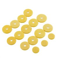 Wholesale 16pcs Music Size Flute Woodwind Pads Replacement Repair Yellow Musical Instrument High quality pad