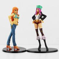 Wholesale Japan Anime One Piece Nami VS Jewelry Bonney PVC Action Figure Dolls Toys set of