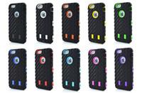 al por mayor iphone plástico de silicio-Cubierta suave plástica dura de la piel de la caja del silicón resistente a prueba de choques resistente híbrida robusta resistente del neumático para el iphone 4 4S 5 5S iphone 6 6G más ipone 7