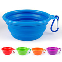 Wholesale Pet Dog Cat Bowl Puppy Drinking Collapsible Easy Take Outside color Feeding Water Feeder Travel Bowl Dish