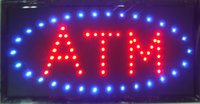 atm neon sign - 2016 LED ATM neon sign hot sale custom led sign x19 Inch Semi outdoor Ultra Bright ATM display