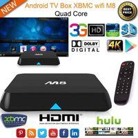 Profesional 2015 Android 4.4 TV Box 4K M8 + 2 GB 8 GB Amlogic Bluetooth Quad Core Media Player XBMC / Kodi
