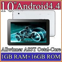 Wholesale 1PCS quot Allwinner A83T Octal Core Cortex A7 GHz Android tablet pc Capacitive GB GB Dual Camera HDMI Wifi USB OTG Bluetooth