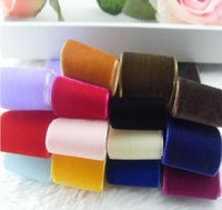 Wholesale High Quality Velvet Ribbon Widths Polyester No elastic Single face velour diy wedding Crafts Trim Sewing many color choices