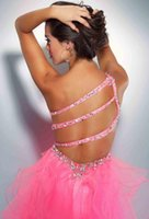beaded knitting patterns - vestido de festa formatura new fashion hot sexy backless peacock pink crystal tulle short party prom dresses
